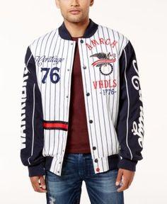 Heritage America Men's Baseball Jacket - White XXXL