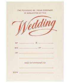 Coral Wedding Invitation Cards
