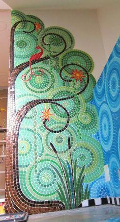 mur en mosaïque