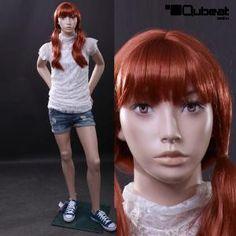 #Schaufensterpuppe #Mannequin #Gesicht #hautfarben #stehend #Kind #Kinder #Mädchen #weiblich #Teenager