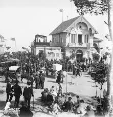 L'estació del funicular del Tibidabo, 1908. Autor: Frederic Bordas i Altarriba