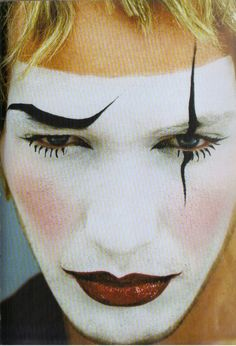 1993 - Nick Moss as Clown Bowie make up by Topolino Photo JB Mondino 4 Vogue  Hommes International
