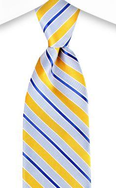 Spring 2016 Bachrach Yellow Stripe Tie