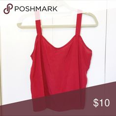 Red Flowy Blouse Flowy red blouse, chiffon Tops Blouses
