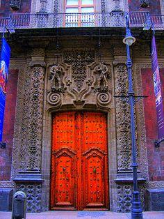 Red Double Doors ~ Mexico City.