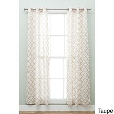 "Home Fashion Designs Macie Geo Collection Geometric Faux Linen 84"" Curtain Panel Pair"