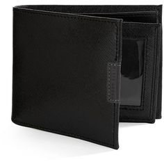 Perry Ellis West Virginia Passcase Leather Wallet ($20) ❤ liked on Polyvore featuring men's fashion, men's bags, men's wallets, wallet, black and mens leather wallet