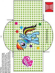 {free} printable My Little Pony Candy Bag 2 Favor Box