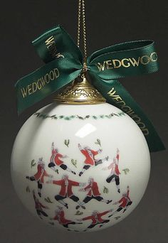 Wedgwood TWELVE DAYS OF CHRISTMAS BALL ORNAMENT 10 Lords A Leaping 3391053