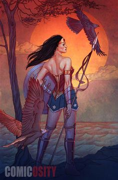 Wonder Woman #9 variant cover by Jenny Frison *