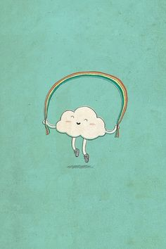 Happy Cloud jumping rope. Reminds me of my childhood!