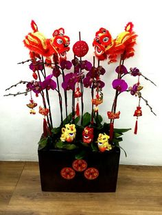 Chinese New Year Orchid Arrangement.