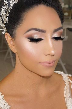 Bright Wedding Makeup Ideas For Brunettes ❤ See more: www. Bright Wedding Makeup Ideas For Brunettes ❤ See more: www.weddingforwar… Bright Wedding Makeup Ideas For Brunettes ❤ See more: www. Wedding Eye Makeup, Wedding Makeup For Brunettes, Wedding Makeup Looks, Bridal Hair And Makeup, Wedding Beauty, Bridal Smokey Eye Makeup, Wedding Hair And Makeup Brunette, Bridal Makeup Natural Brunette, Wedding Smokey Eye