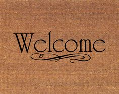 "Welcome Door Mat - Coir Doormat Rug - 2' x 2' 11"" (24 Inches x 35 Inches) - Welcome Mat - Housewarming Gift"