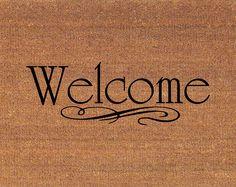 """Welcome Door Mat - Coir Doormat Rug - 2' x 2' 11"""" (24 Inches x 35 Inches) - Welcome Mat - Housewarming Gift"""