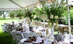 White garden wedding