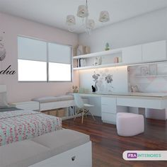 Bedroom Design And Decoration Tips And Ideas - Top Style Decor Teen Bedroom Designs, Bedroom Decor For Teen Girls, Room Design Bedroom, Room Ideas Bedroom, Home Room Design, Small Room Bedroom, Home Office Design, Luxury Bedroom Furniture, Study Room Decor
