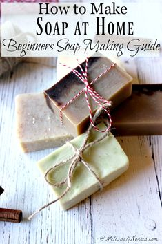 If you've been wanting to learn how to make soap at home, then this beginners guide to soap making is your episode. The different ways to make soap, when to choose which method, and how to get started with cold process soap making with lye water. Squishies, Do It Yourself Inspiration, Soap Making Supplies, Homemade Soap Recipes, Soap Making Recipes, Homemade Products, Cold Process Soap, Soap Making Process, Soap Molds