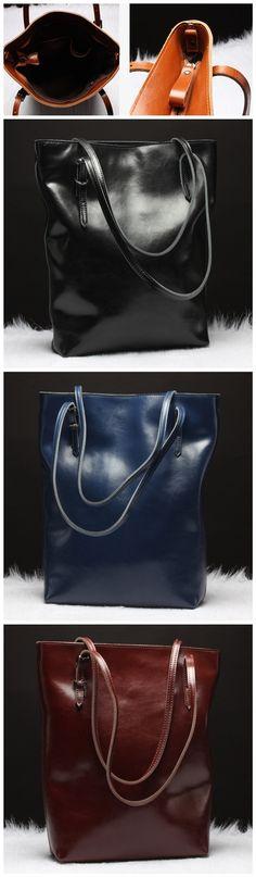 Simple Style Women's Top-Handbag Tote Bag Leather Shoulder Bags Messenger Tote Bags Bagail.com