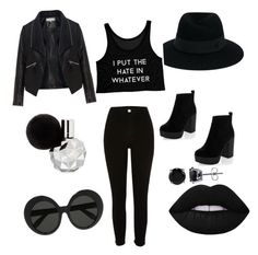 """""""Bring black the bold me!"""" by kee-darden on Polyvore featuring River Island, Maison Michel, Lime Crime, Zizzi, Linda Farrow and BERRICLE"""
