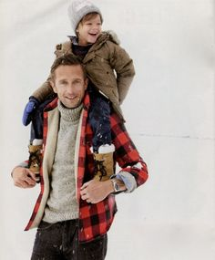 any guy playing with any child is automatically ten times more attractive. BUT GUYS. there is plaid AND a turtleneck sweater involved!
