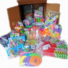 Carnival Savers - Small Toys Treasure Box Assortment 10¢ each (1100 total toys), $115.00 (http://www.carnivalsavers.com/small-toys-treasure-box-assortment/)