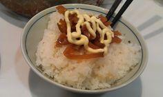 不味そう飯: ザーサイマヨネーズご飯。見慣れた感じである。安定の一品。     ザーサイだがやたら塩辛く、しかし塩...