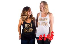 Drunk In Love & Just Drunk by ESEFApparel on Etsy