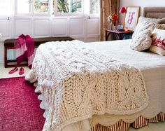 25 Knitted Decor Ideas for Your Soon-To-Be Snuggly Home via Brit + Co.