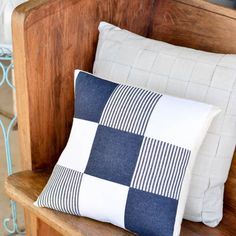 DIY Quilted Denim Pillow