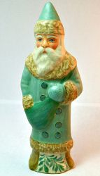 Chalkware Belsnickle Santa hand crafted from an antique chocolate mold, On sale now, www.bittersweethouse.com