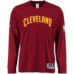 adidas Cleveland Cavaliers Burgundy On-Court Long Sleeve T-Shirt