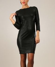 Look what I found on #zulily! Black Shimmer Bodycon Dress by Baby Doll #zulilyfinds