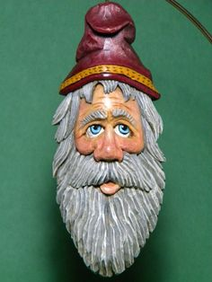 Hand Carved Wood Holiday Santa Christmas by HolidayCollectibles, $45.00