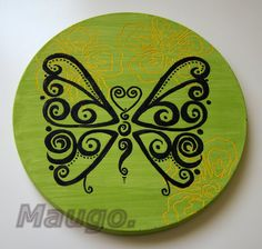 butterfly - handmade decoration from plaster