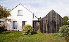 Charred Wood Siding of Vacation Cottage in France | Homesb