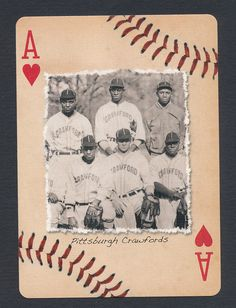 Pittsburgh Crawfords Negro League Baseball 2012 playing card single ace - 1 card