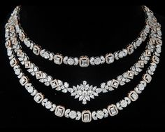 Diamond Necklace Tips, tricks and hacks on how to pick the right jewellery, segregated ceremony wise. - Tips, tricks and hacks on how to pick the right jewellery, segregated ceremony wise. Diamond Necklace Set, Diamond Bracelets, Diamond Jewelry, Gold Jewelry, Cartier Bracelet, Vintage Jewelry, High Jewelry, Modern Jewelry, Jewelry Sets