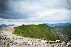 Helvellyn summit, Lake District, Cumbria, England, UK
