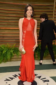 Actress Aubrey Plaza attends the 2014 Vanity Fair Oscar Party hosted by Graydon Carter on March 2, 2014 in West Hollywood, California.