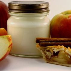 Jar Candle Baked Apple Pie Scented Soy Mason Jar Container Candle | blackberrythyme - Candles on ArtFire