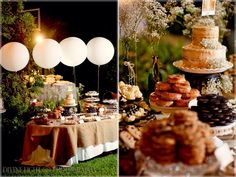 B+A Wedding Dessert Table