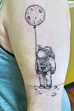 An astronaut space tattoo                                                                                                                                                                                 More