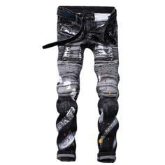 69.00$  Watch now - http://alicvz.worldwells.pw/go.php?t=32787866016 -  France USA England New Trendy Personalized Print Vintage Teenagers Cultivate Female Youth Men Trousers Punk Pants Lightweight