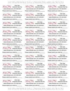 Personalized AVON Brochure Labels with SUBMIT by LabelsForYou