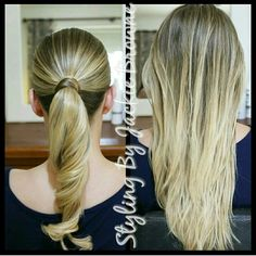 Simple ponytail with a slight curl