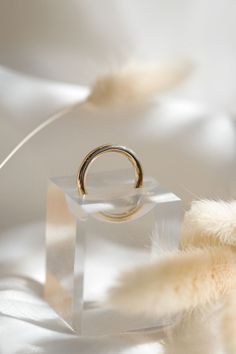 The 2.5mm width of the full round ring makes for the perfect chunky ring. Available in 14k yellow gold, white gold, and rose gold. Choose between a polished or brushed finish.