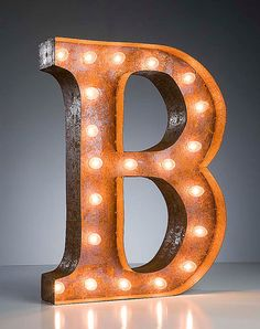 Vintage Marquee Lights  Letter B by VintageMarqueeLights on Etsy, $199.00