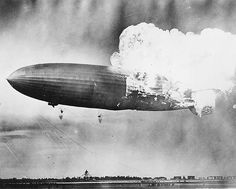The Hindenburg explodes on May 6, 1937