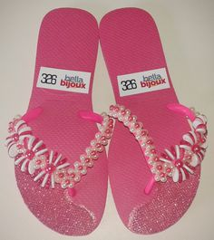 flip flop decor, havaiana decorada, chinelo decorado